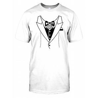 Tuxedo et Bow Tie - Fancy Dress Stag Do Mens T Shirt