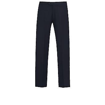 Dobell Mens Navy Tuxedo Trousers Regular Fit Satin Side Stripe