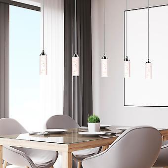 Modern LED Ceiling Pendant Light Meteor Nickel 5 Pendant Lamp Rectangular Canopy