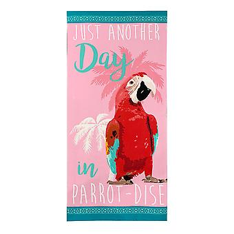 Alfresco Printed Beach Towel, Parrot