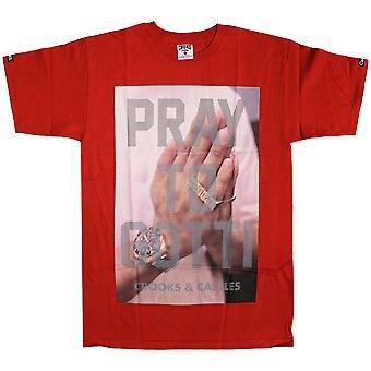 Bandidos & castelos rezam para Gotti t-shirt vermelho de verdade