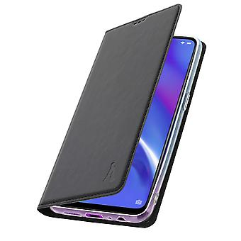 Akashi slim case, flip wallet cover for Oppo RX17 Neo – Black