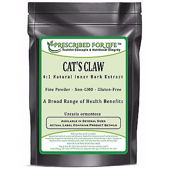 Cat's Claw - 4:1 Natural Inner Bark Extract Powder - (Uncaria ormentosa)