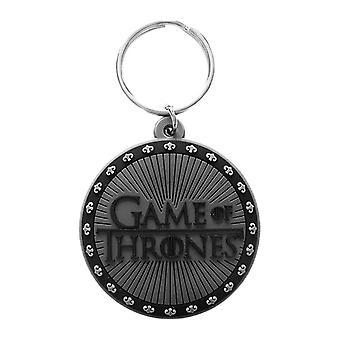Spel van tronen logo rubber sleutelhanger
