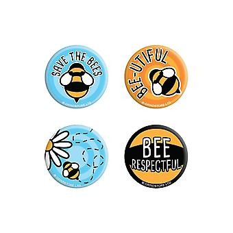 Grindstore Save The Bees Badge Pack