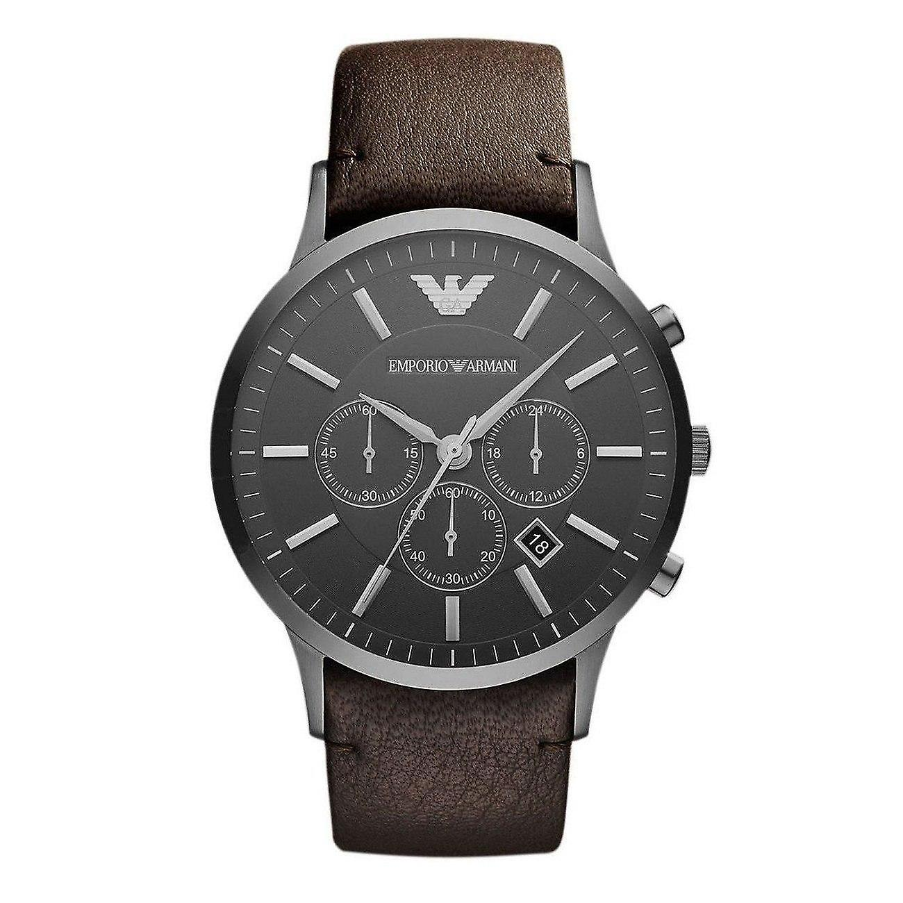 Emporio Armani Ar2462 Men's Sportivo Leather Strap Watch
