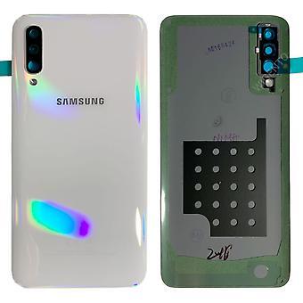 Samsung GH82-19229B paristo kannen kansi Galaxy A50 A505F + liima pad valkoinen uusi
