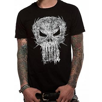 Marvel Unisex Erwachsene Punisher Shatter Skull Design T-Shirt