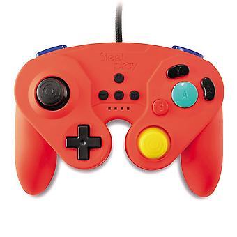 Controlador con cable steelplay GCube para Nintendo switch-red