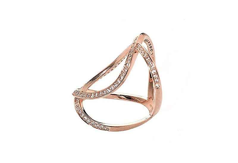 Oval Statement Infinity Cocktail Ring