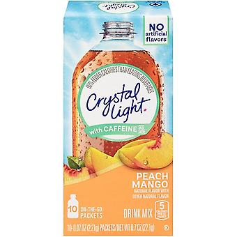 Crystal Light on the Go Peach Mango with Caffeine Drink Mix Packets
