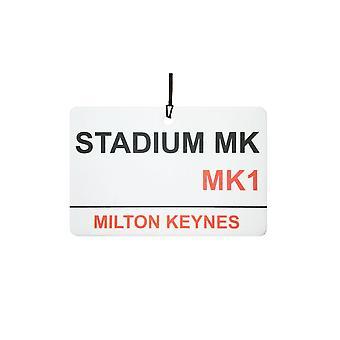 MK Dons Stadium Street Sign Désodorisant
