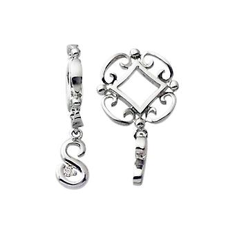 Storywheels Silver S inițială Dangle Charm S218D