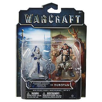 World Of Warcraft Mini Figure 2 Pack Alliance Solider Vs Durotan