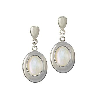 Ewige Sammlung Idaho Mutter der Perle Silber Ton Drop-Clip auf Ohrringe