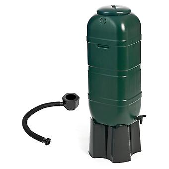Charles Bentley Slim Line Garden Water Butt Set Including Tap with Stand Lockable Lid Filler Kit - 100L