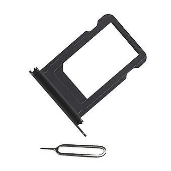 For iPhone XR SIM card holder + Ejectpin-Black