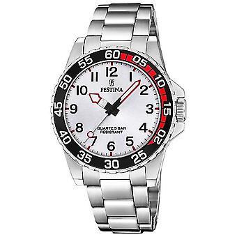 Festina   Unisex/Junior Edelstahl Armband   Silber Zifferblatt   F20459/1 Uhr