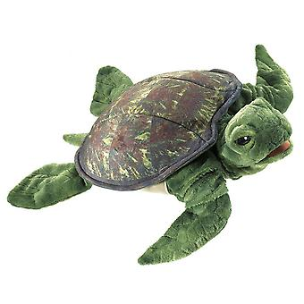Hand Puppet - Folkmanis - Turtle Sea New Animals Soft Doll Plush Toys 3036