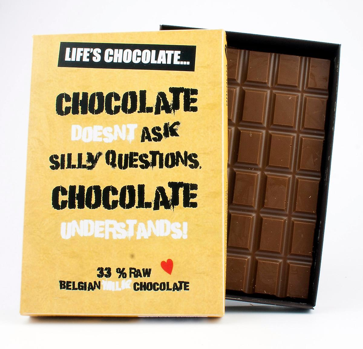 Funny Boxed Chocolate Quote Gift For Men Women Best Friend Greeting Card for Him or Her LC120