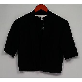 Isaac Mizrahi elää! Naisten ' s pusero Essentials kyynärpää hiha musta A303524