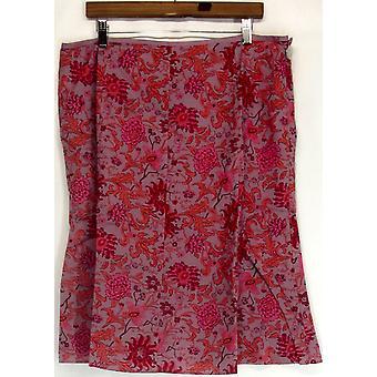 Liz Claiborne York Floral Printed Gored Violet Dusk Skirt A215744