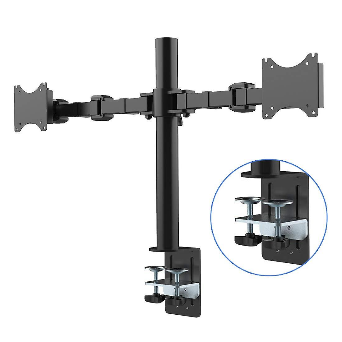 FLEXIMOUNTS D1D Full Motion Dual Arm Desk Monitor Mount Stand Fits 10
