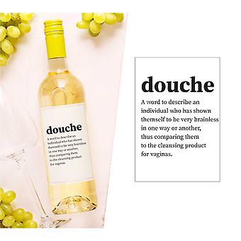 Douche Wine Bottle Label