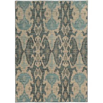 Sedona 6410d ivory/grey indoor area rug rectangle 6'7
