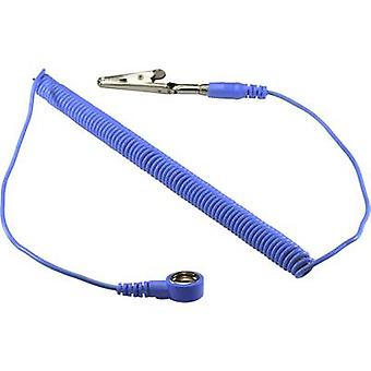 TRU COMPONENTS SpKL -10-183-SK ESD earth cable 1.83 m 10 mm stud and socket, Alligator clip