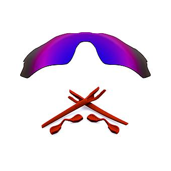 Polarized Replacement Lenses Kit for Oakley Radar EV Path Purple Mirror Red Anti-Scratch Anti-Glare UV400 by SeekOptics