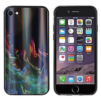 BackCover Aurora Glass voor Apple iPhone 8 - 7 Groen