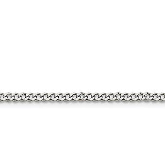 Stainless Steel Polished Fancy Lobster Closure 3.0mm Curb Chain Necklace - Length: 16 to 30