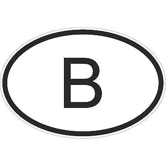 Autocollant Sticker Drapeau Oval Code Pays Voiture Moto Belgique Belge B