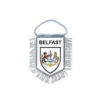 Sinalizar mini bandeira país carro decoração lembrança Blason Belfast