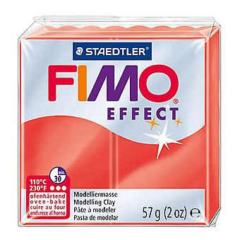Fimo Effect Modelling Clay, Transparent Red, 57 g