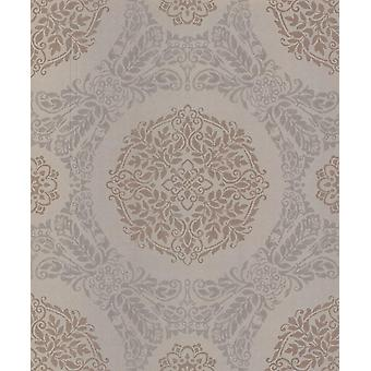 Rose Gold Damask Wallpaper Floral Metallic Glitter Shimmer Arthouse Timour