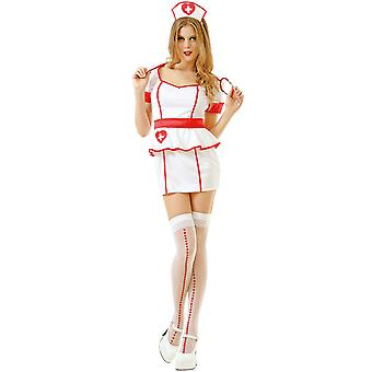 Frække sygeplejerske voksen kostume, L