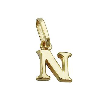 Lettre pendentifs or 375 abonnés Regardé:, lettre N, 9 KT GOLD