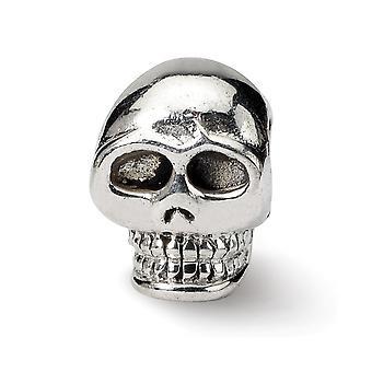 925 plata esterlina pulido acabado Reflexiones SimStars cráneo perla encanto colgante collar regalos de joyería para las mujeres