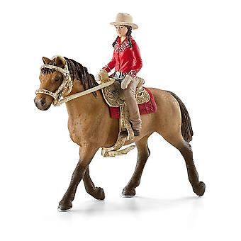 Schleich Horse Club Western Rider Horse Toy Figure (42112)