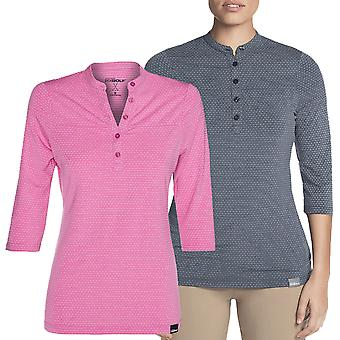 Skechers Golf Donne Birdseye 3/4 Sleeve Polo Shirt