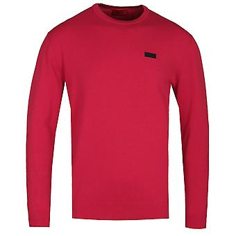 HUGO San Claudio 2 Red Crew Neck Sweater