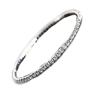 Vincenza crystal rhinestone diamante single row anklet foot jewellery stretch elastic