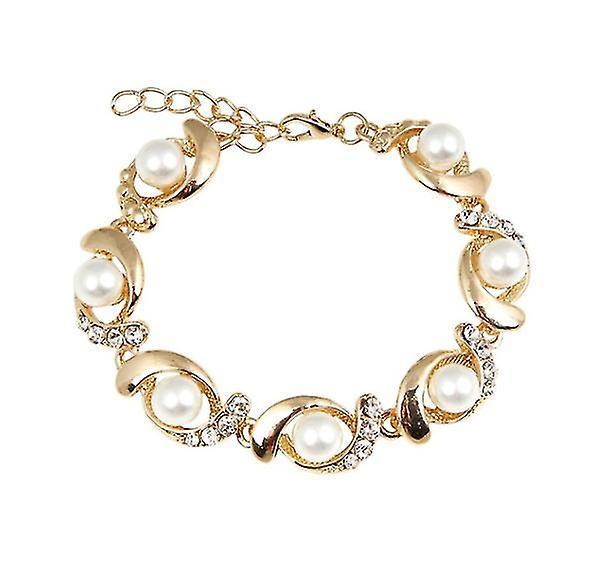 Neuer Modestil von Fantastisk pris Faux Perle & Kristall wirbeln Armband cVSLL
