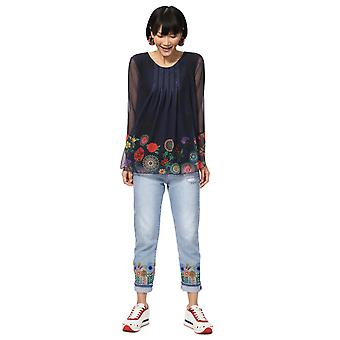 Desigual Women-apos;s Floral Rachel Long Sleeved Blouse