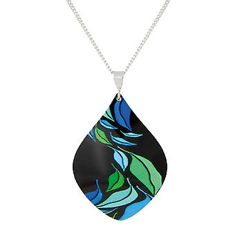 Eternal Collection Margarita Blue Multicoloured Aluminium Pendant