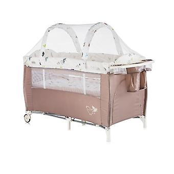 Chipolino travel bed Bella, side entrance, mosquito protection, wrapping pad