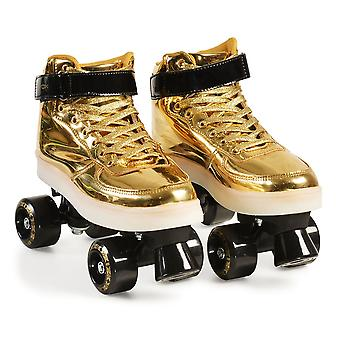 Byox Roller Skates Golden Size S 33-34 PVC Wheels Sole Light Bearing 608ZB to 60 kg