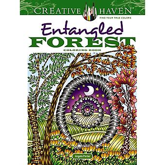 Creative Haven Entangled Forest Coloring Book by Porter & Angela